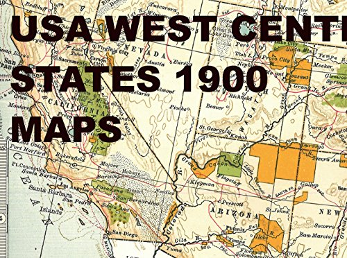 Usa West Center States 1900 Maps The American Wild West States