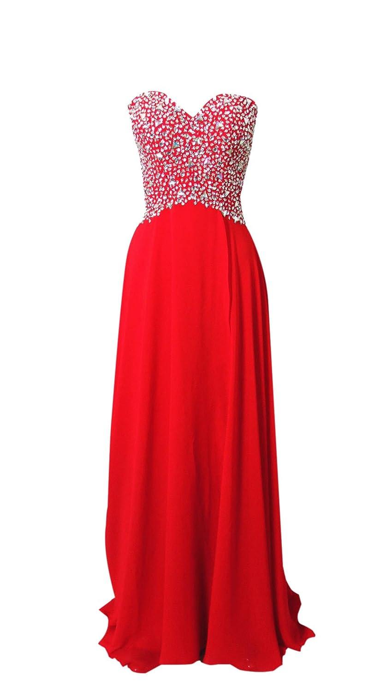 AngelDragon Strapless Rhinestones Beading Criss-Cross Back Evening Prom Dress