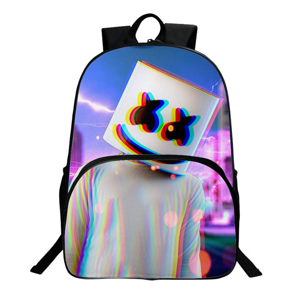a61f453c112b Amazon.com: Marshmallow Backpack for Boys, Unisex 3D Print DJ ...