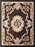 Traditional Area Rug Design D 121 Chocolate (8 Feet X 10 Feet) Review