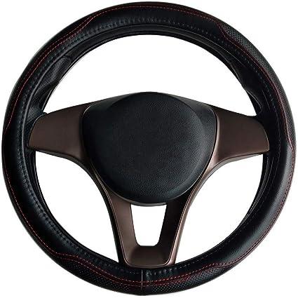 38/cm HAN sur les Song Couvre-volant pour voiture pour renegade Cherokee Grand Cherokee Wrangler Compass Giulietta 38cm Noir en cuir v/éritable