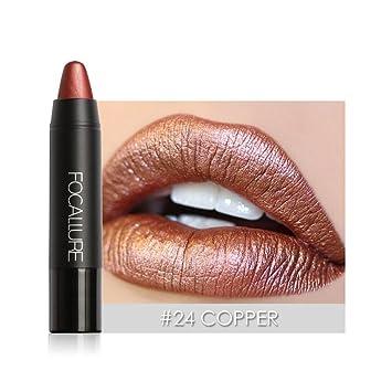 Metallic Lipstick Rose Goldmolie Metal Matte Lip Crayon Long