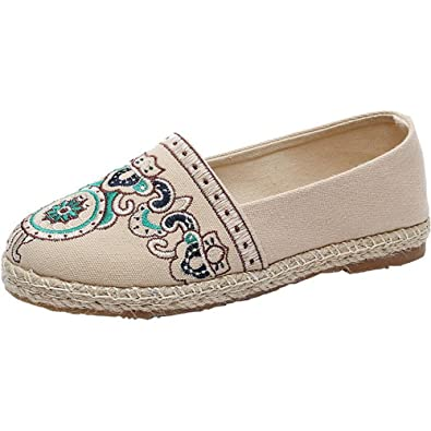 Women Comfort School Fashion Street Style Low Top Canvas Sneakers Trainers  Shoes(Beige 35  a079dc9b89