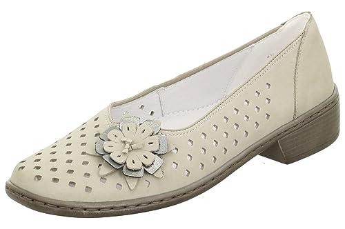 Jenny 22-54259-06 Zaros - Mocasines de Piel para mujer gris moon/titan Weite H: Amazon.es: Zapatos y complementos