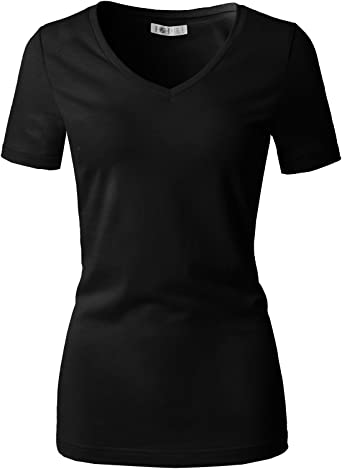 H2h Women Casual Slim Fit T Shirt Top Short Sleeve Cotton Blended Basic Designed At Amazon Women S Clothing Store Huge savings for fitted shirts for women. h2h women casual slim fit t shirt top short sleeve cotton blended basic designed