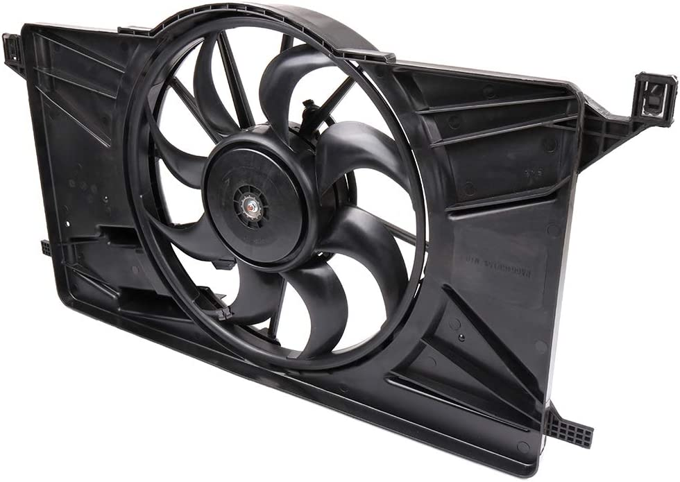 SCITOO Radiator Condenser Cooling Fan Compatible with 2012 2013 2014 2015 2016 2017 Ford Focus 2.0L