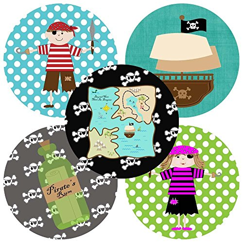 [Pirate Sticker Labels - Set of 50] (Parrot Costume Female)