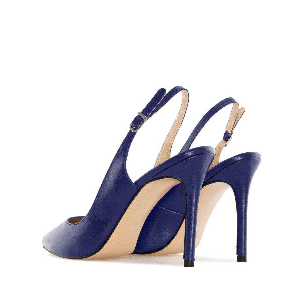 Soireelady Damen Fashion Pumps,Spitze Zehen Übergröße Pumps,Slingback Schuhe M-brown EU36