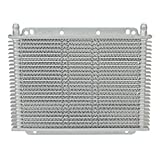 Flex-a-lite (400123) Stacked Plate 23-Row Transmission Cooler, 11 x 7 7/8 x 3/4'' with 3/8 inch Barbed Fittings
