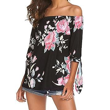 30176691dfb03 Women Blouse Daoroka Sexy Off Shoulder Summer Plus Size Floral Print Casual  Half Sleeve Cute Fashion