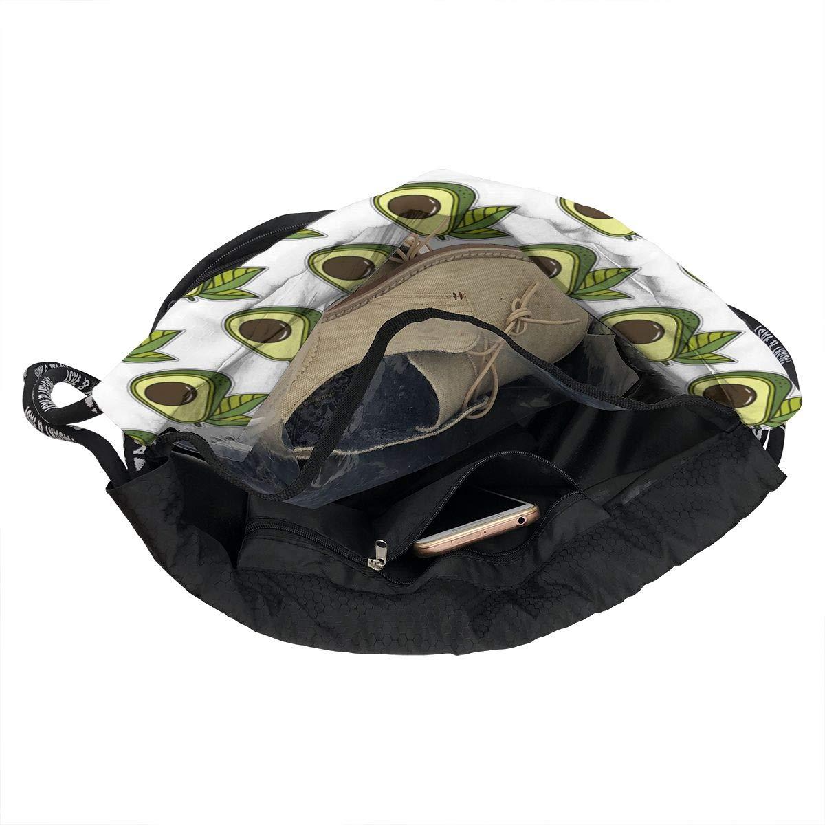 HUOPR5Q Avocado-Design Drawstring Backpack Sport Gym Sack Shoulder Bulk Bag Dance Bag for School Travel