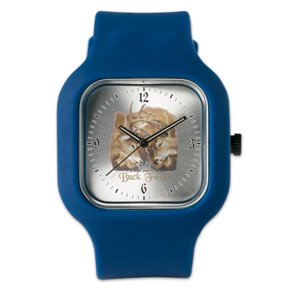 Navy Blue Fashion Sport Watch Buck Fever Deer Hunting