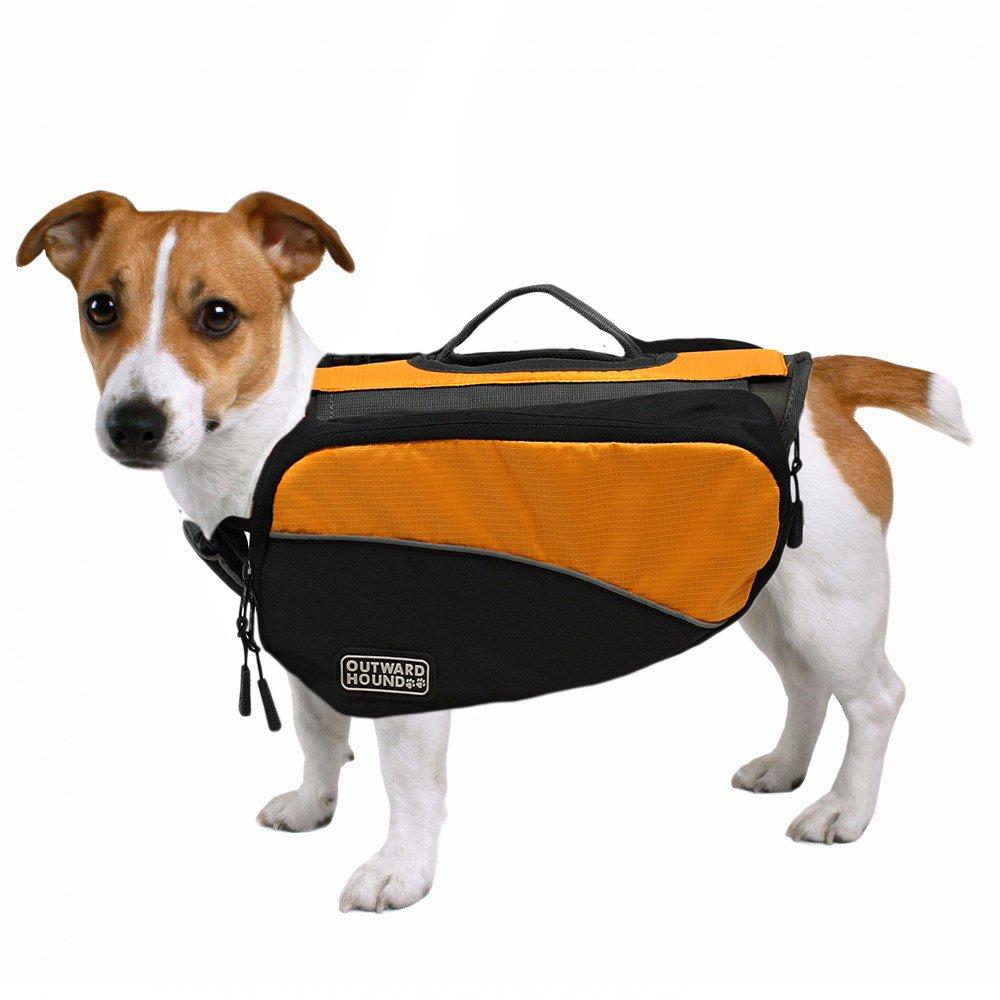Kyjen Outward Hound 2500 Dog Backpack, Small, Orange