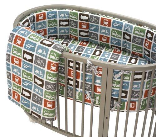 Dwellstudio Transportation (DwellStudio Baby Oval Transportation Multi Fitted Crib Sheet)