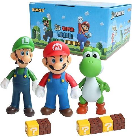 Hxdzfx 9 Pcs Mario And Luigi Toys Figurines Super Mario Action