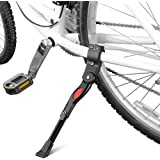 Schrodinger15 70072 Bicycle Cycle Kick Stand Side Stand Adjustable for All- Rear axle mounting
