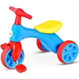 Costzon Toddler Tricycle Walker Baby Balance Tricycle with Foot Pedals, BB Sound and Storage Box, Baby Tricycle Bike for Kids Baby Infant Age 18 to 36 Months Indoor Outdoor