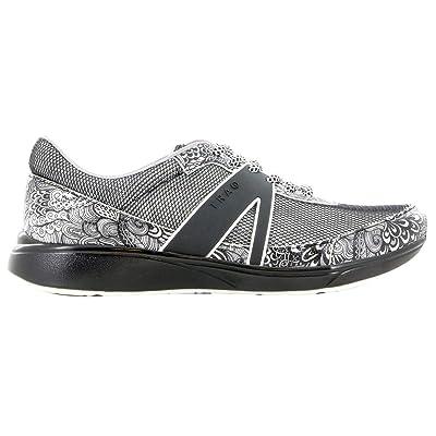 Alegria Women's, QarmaSmart Walking Sneaker Black Swirl 39 M | Walking
