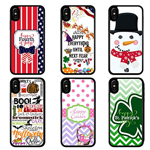 Holiday case for iPhone XR XS MAX X 8 7 6 4th of July Happy Everything Christmas Halloween Easter St Patricks Day