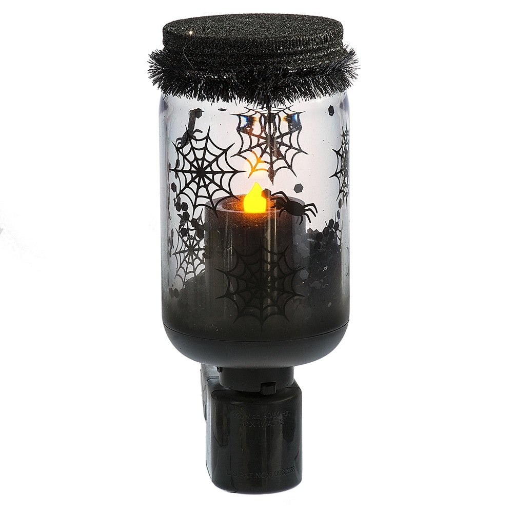 Midwest Spider in Jar LED Night Light for Halloween or Everyday Spooky Use