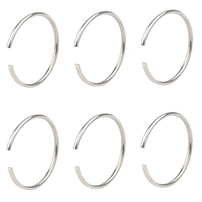 Amazon.com: DRW 6pcs 22 G acero inoxidable Non-Piercing ...