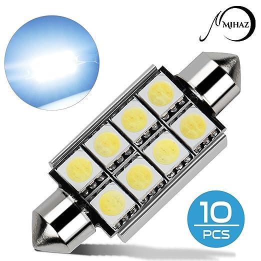20 opinioni per Mihaz 10 x 42mm CAN-Bus senza errori del festone 8SMD W5W C5W 5050 LED SMD