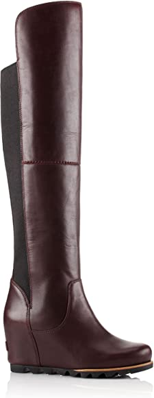 performance sportswear limited guantity nice cheap Amazon.com | Sorel Women's Fiona Over The Knee Lux Wedge Rich Wine ...