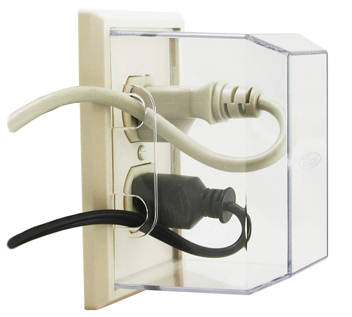 LectraLock - Baby Safety Electrical Outlet Cover - Flat Cover Outlet Protector, Almond