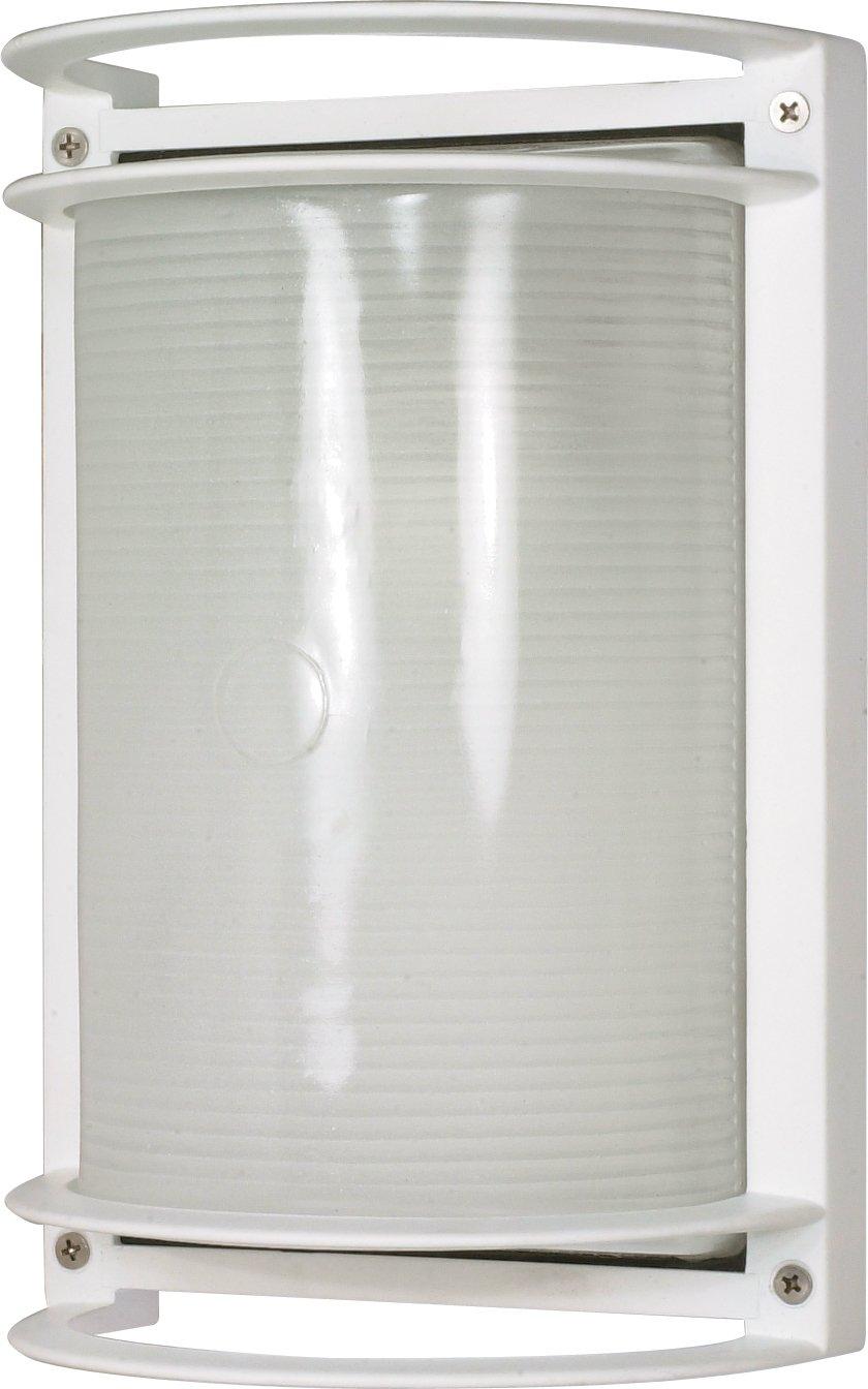 Nuvo Lighting 60-530 Rectangle Wall Sconce, Semi Gloss White
