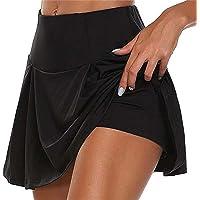 Tofox Mujer Falda Deportiva 2 en 1 Leggings Mini Shorts Deportivos con Falda, pantalón Corto para Tenis, Golf, Tenis
