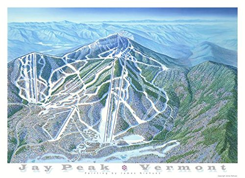 Wall Art Print entitled Jay Peak Vermont by James Niehues | 22 x 16