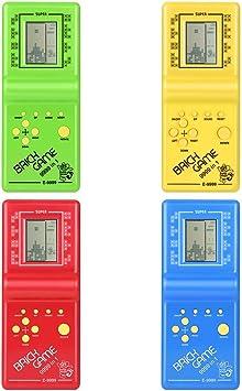 Amazon.es: Delicacydex Juego de Ladrillo Tetris Electrónico Kids Classic Máquina de Juego Portátil con Game Music Boys Girls LCD Juguetes Educativos
