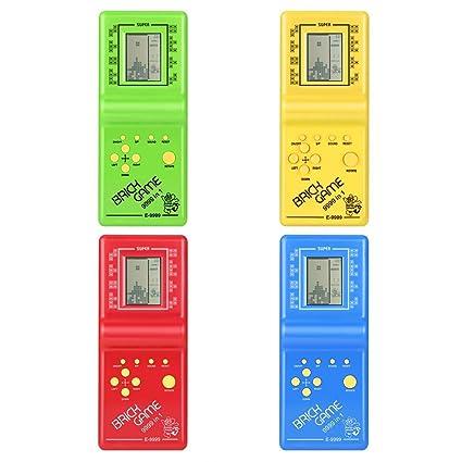 Delicacydex Juego de Ladrillo Tetris Electrónico Kids Classic Máquina de Juego Portátil con Game Music Boys