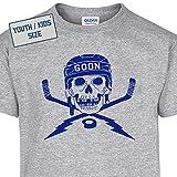 L - Youth Hockey Goon T Shirt Cool Goalie Vintage Kids T Shirt Hockey Mask Sticks Girls Boys Childrens Shirtmandude Kids T Shirts