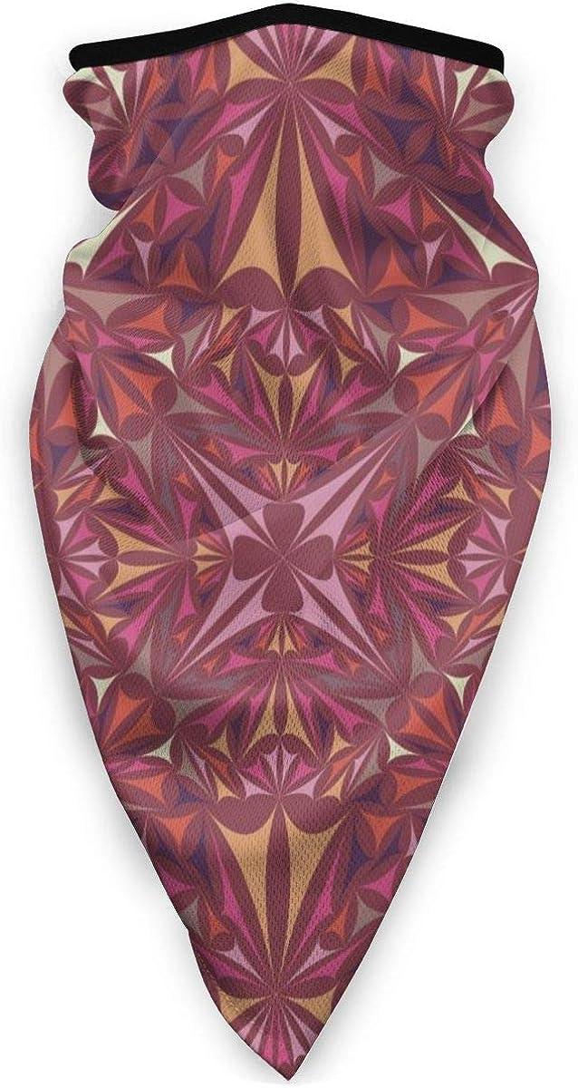 Triangle Kaleidoscope Pattern Kaleidoscopic Neck Gaiter Warmer Windproof Mask Balaclava Face Mask Sports Mask For Outdoor Men And Women Free UV Personalized