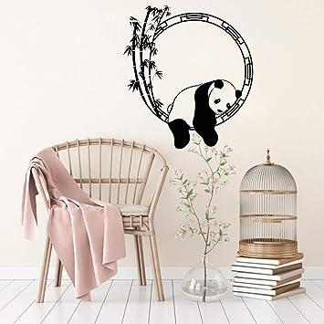 Fenceweb Animal Sticker Panda Bambou Décoratif Japonais Vinyle Autocollant  Unique Décor À La Maison Sticker Mural