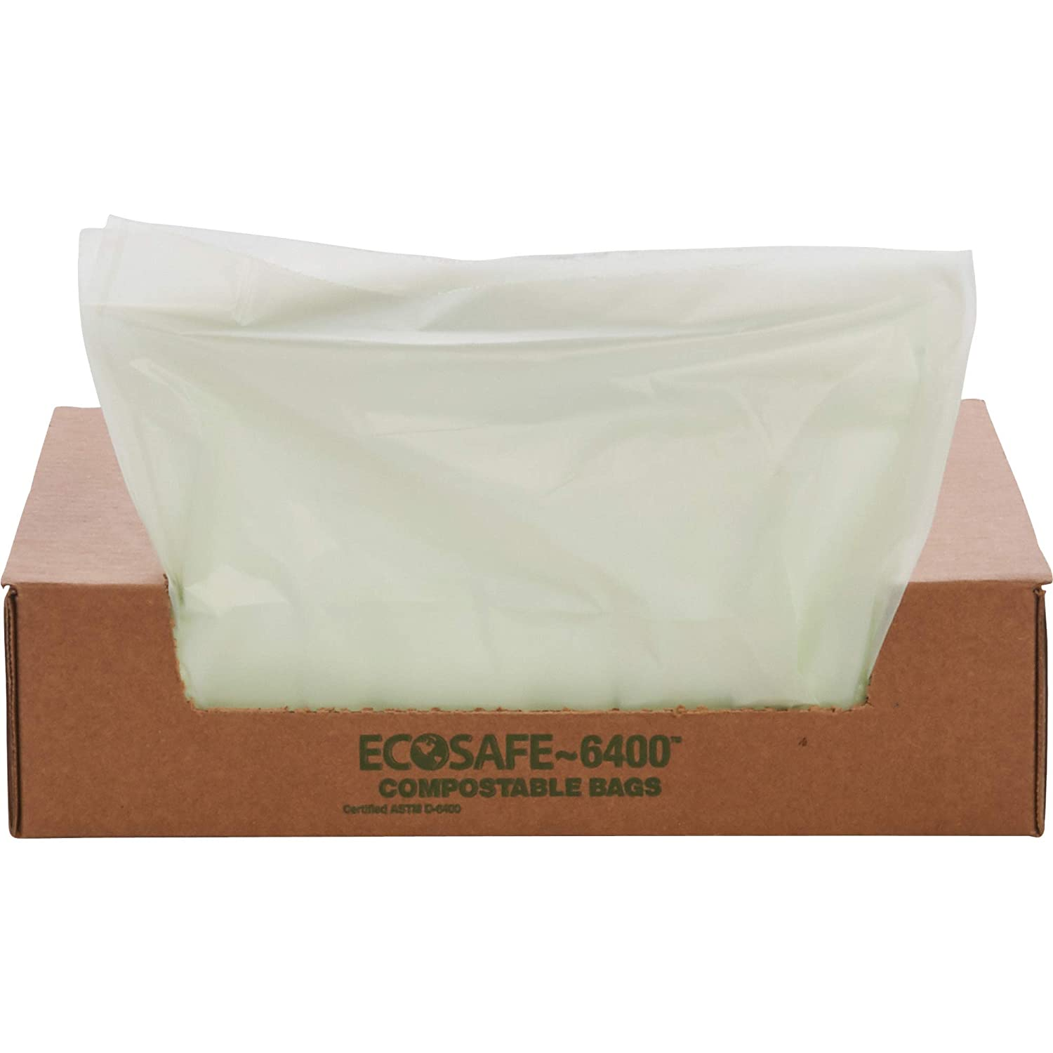 "STOUT by Envision STOE4248E85 EcoSafe-6400 Compostable Bags, 42"" x 48"", 48 gal Capacity, 0.85 mil Thickness, Green (Pack of 40)"