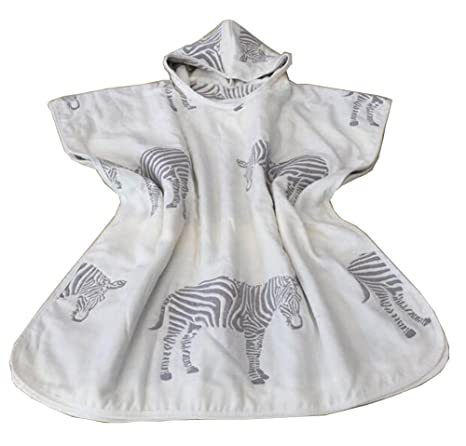Algodón Baby Hooded toalla de baño Capa Albornoz para niños Zebra