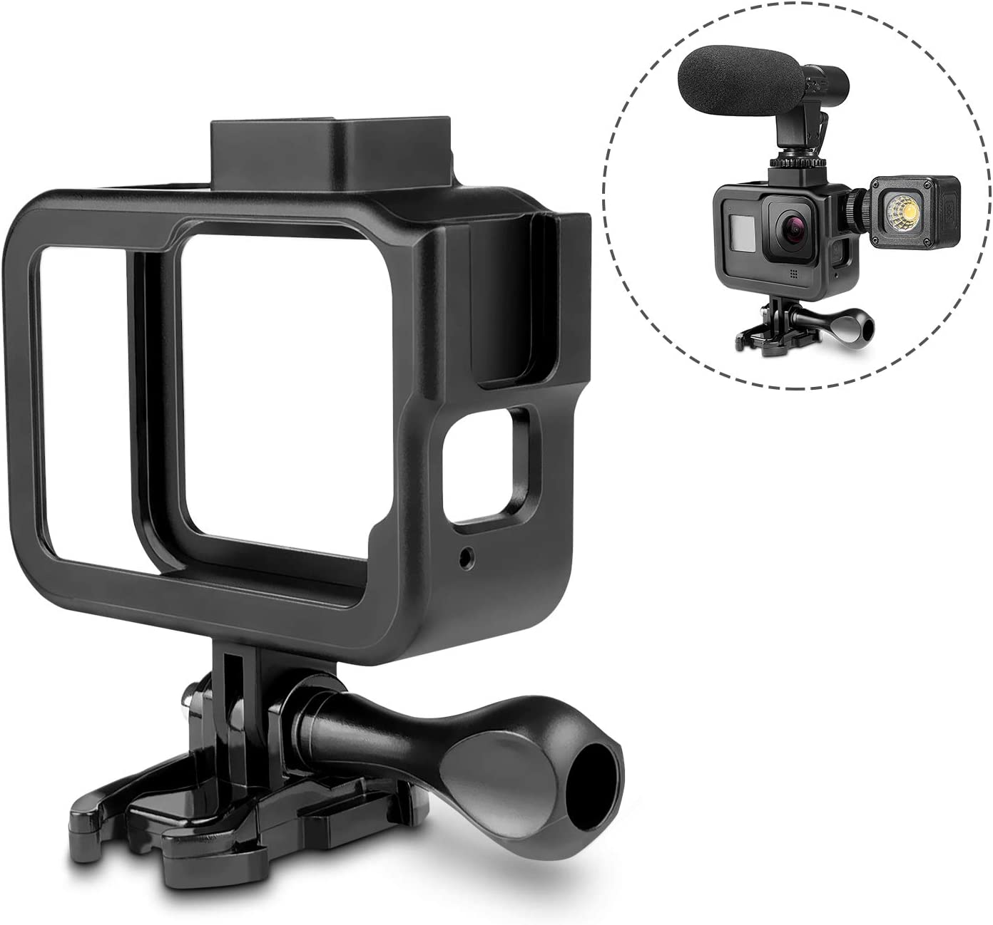 Rhodesy Frame Compatible for Gopro Hero 8 Action Camera Case Aluminum Protective Housing Shell Accessories