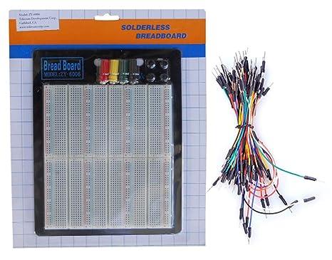 TEKTRUM externo de corriente sin soldadura 2200 Tie-Points experimento plug-in Protoboard con