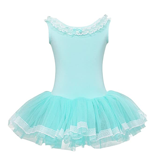 Freebily Maillot Ballet Danza Tutú para Niña Vestido Infantil de Algodón Fiesta Regalo de Cumpleaños Azul