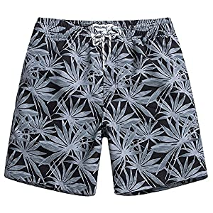 MaaMgic Mens Quick Dry Funny Swim Trunks with Mesh Lining Swimwear Bathing Suits GLM012