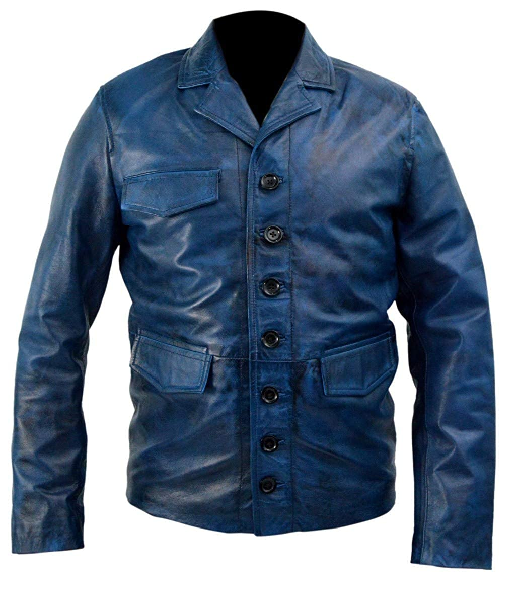 0ad43822 Shadow Moon (Ricky Whittle) American Gods Leather Leather Leather Jacket  blueee eff797