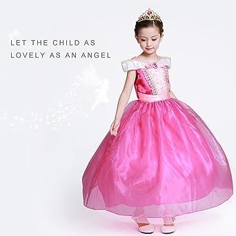 HAWEE Disfraz de Princesa Aurora Vestido para Halloween ...