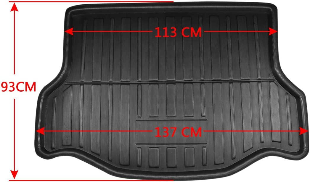uxcell Rear Trunk Tray Boot Liner Cargo Floor Mat Cover Protector for Toyota RAV4 13-16