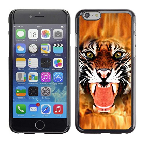 GooooStore/Housse Etui Cas Coque - Tiger Angry Face Big Cat Teeth Green Eyes - Apple Iphone 6 Plus 5.5