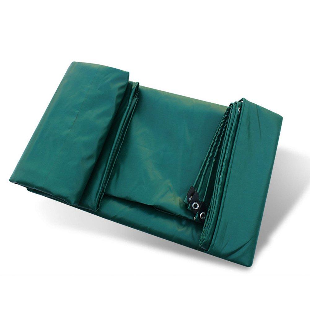 CLDBHBRK Plane Regen Tuch PVC-beschichtetes Tuch wasserdicht Sonnenschutz wasserdicht Sonnenblende Schatten Tuch Linoleum draussen Verdicken Polyester Grün,2  3m
