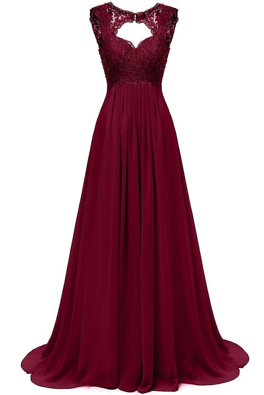 ead250d9007 Kostenloser Versand Carnivalprom Damen Chiffon Abendkleider Für Hochzeit  Elegant Spitze Brautjungfer Kleider Lang Ballkleider