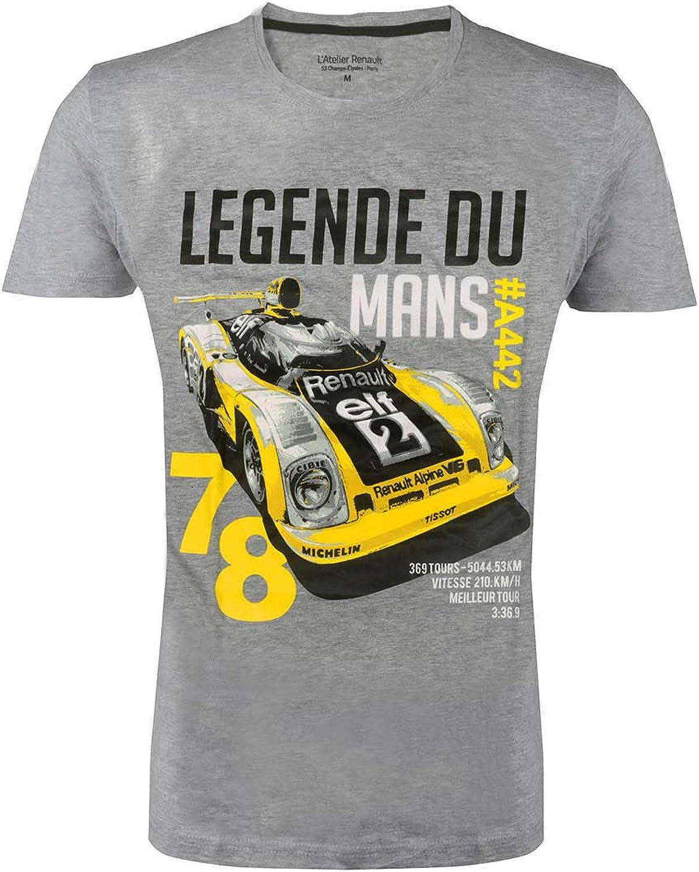 Le Mans 1972 T-Shirt Homme Mod/èle de L/égende LAtelier Renault Renault #A442
