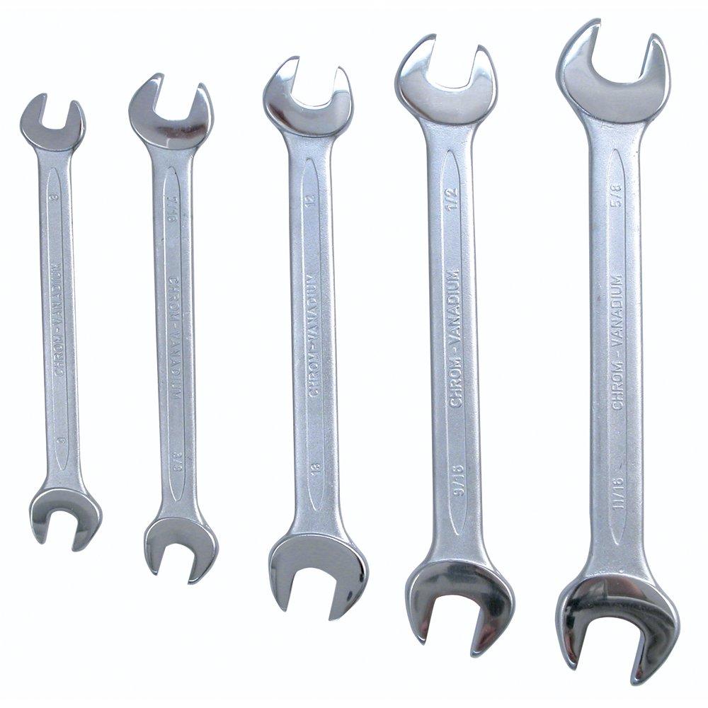 Wiha 35098 Metric Open End Wrench Set, 5-Piece